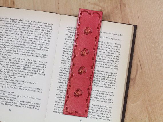 Santa Claus Bookmark  Leather Father by TinasLeatherCrafts on Etsy