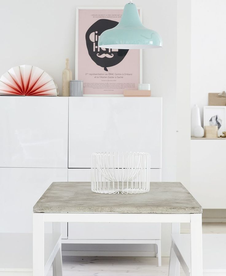 WEEKDAYCARNIVAL : DIY CONCRETE TABLE USING AN IKEA TABLE BASE.