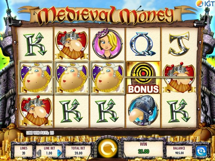 Medieval Money Slot Machine from IGT at MoneyGaming Casino