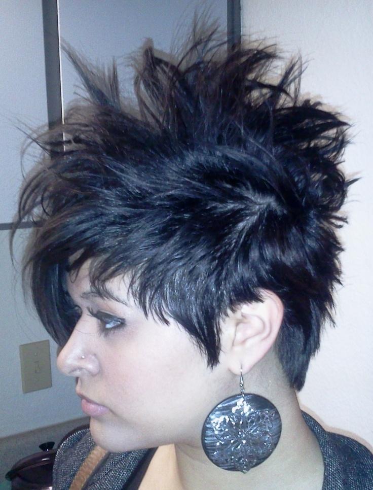Short hair Faux hawk Short hairstyles for women Short dark hair Crazy hai