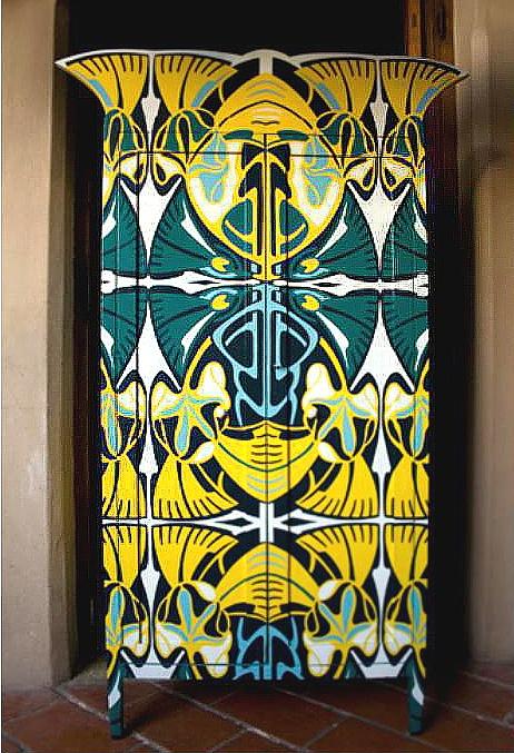 """""""Le Noueau Roi,"""" by Argentinian artist and designer Lucas Risé.Muebles Furniture, Art Nouveau, Painting Furniture, Lucas Rise, Lucas Risé, Artists Lucas, Argentinian Artists, Furniture Design, Design Lucas"""
