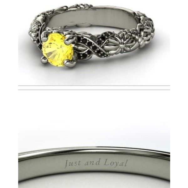 Anillos de compromiso de Harry Potter ❤ liked on Polyvore featuring jewelry, rings and harry potter