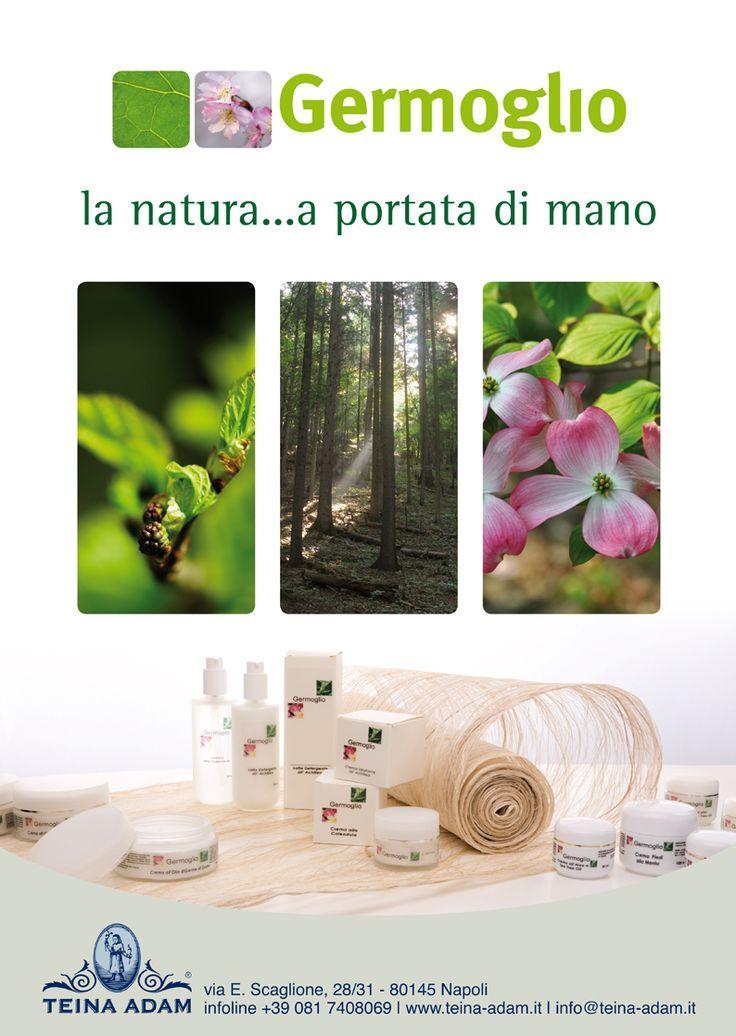 Germoglio | linea certificata biologica. www.teina-adam.it