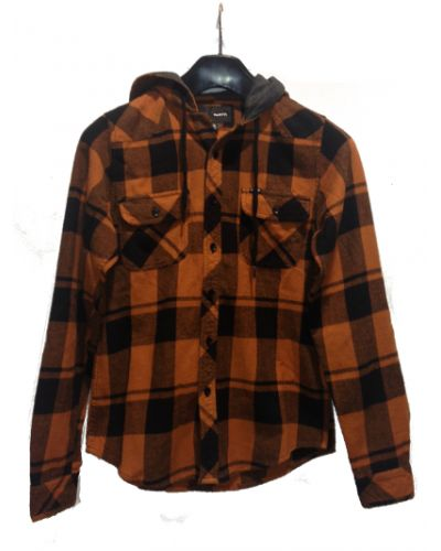 Hurley Roll Up L/S Shirt Rust. RRP $79.99  Now $47.99