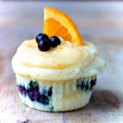 Happy Birthday Healthy Aperture - Let's Celebrate with Wild Blueberry-Orange Blossom Honey Cupcakes