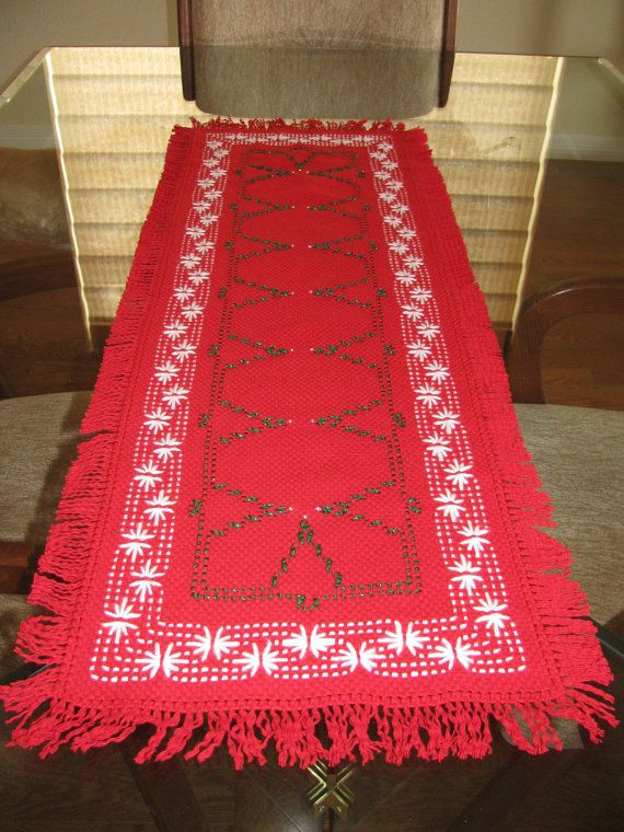 Christmas Tree Swedish Weaving Table Runner by rdrunnercreations