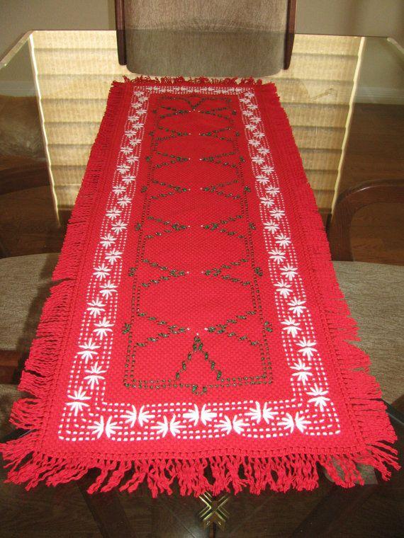 Christmas Tree Swedish Weaving Table Runner by rdrunnercreations