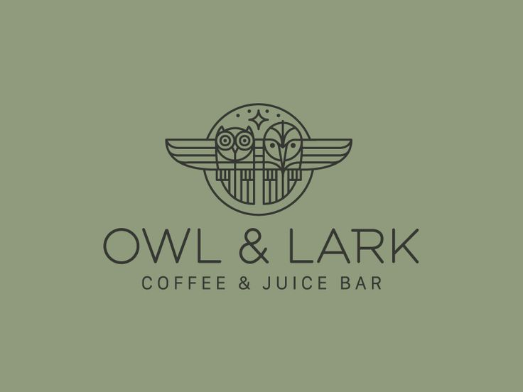Owl & Lark by Brian Steely - Geometric design is so eye-catching when done right.