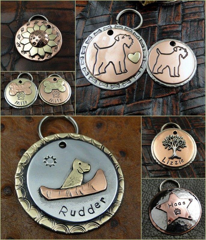 Island Top custom dog tags  http://www.handmadeology.com/spotlight-feature-islandtop-designs/