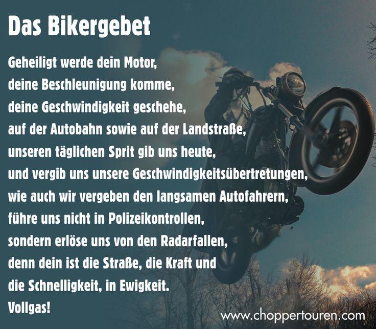 Passend zur Osterwoche - Das Bikergebet ;-)