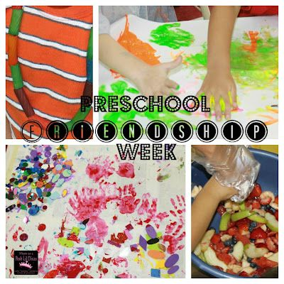 Preschool Friendship week activities & fun to promote friendship, sharing, cooperation, getting to know each other & more