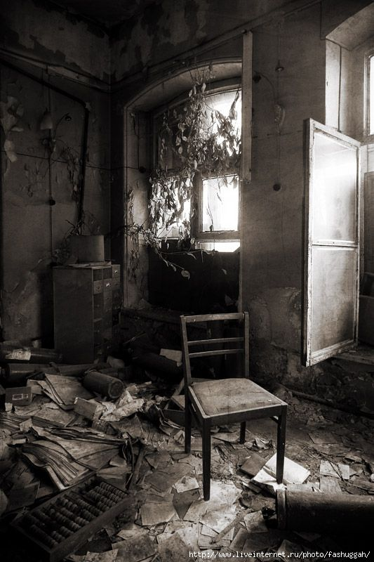 A back room in the abandoned mansion in St. Petersburg, Russia.