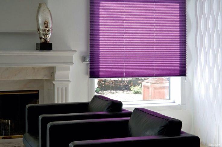 Фиолетовые шторы в интерьере - фото стильного дизайна штор со вкусом