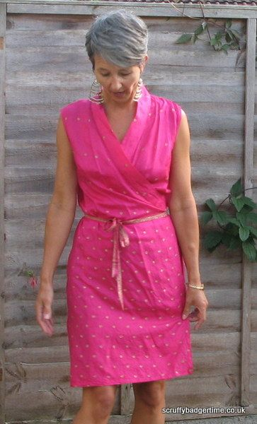 wrap dress made from pre loved sari