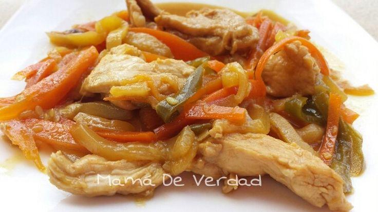 Pollo estilo chino con salsa de soja y verduras | Cocinar en casa es facilisimo.com