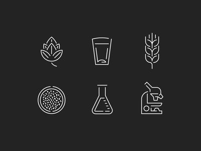 Beer/Science Icons