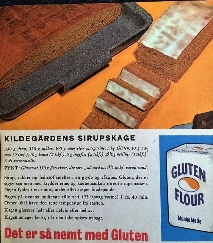 Kildegårdens Sirupskage (recipe in Danish)