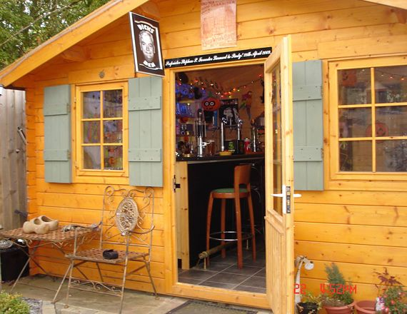 Man Cave Woman Shed : Woman creates luxury mini mansion in her garden shed daily