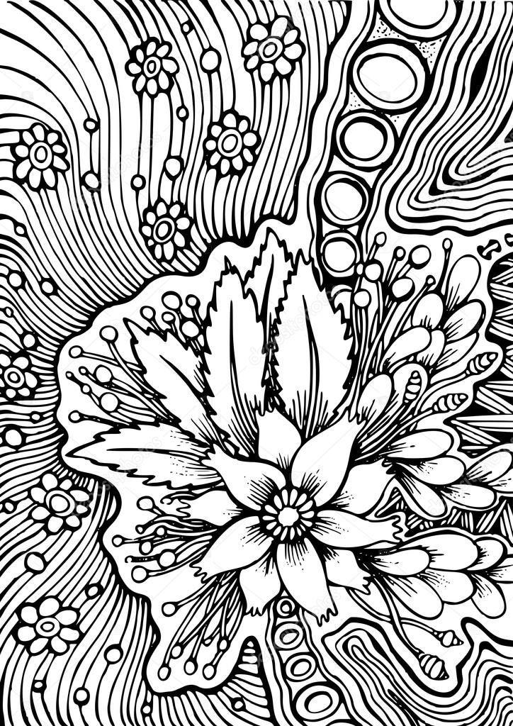 Descargar - Vector hand drawn pattern for coloring book. — Ilustración de stock #110293218