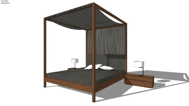 This is one of the most compelling canopy beds design I ever came upon.   Actually, the whole ZEITRAUM product range is worth close attention, see for yourselves..   Model also includes all three sizes of the NIGHTSTAND /48,64,86/ available and NEAT NOON night lamp.   Mattress size: 180x200 [cm].