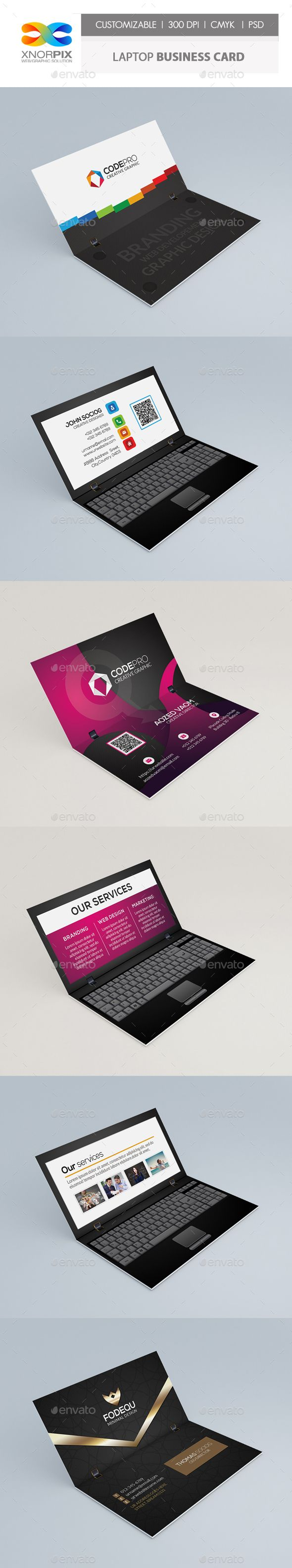 414 best business card template images on pinterest business laptop business card alramifo Images