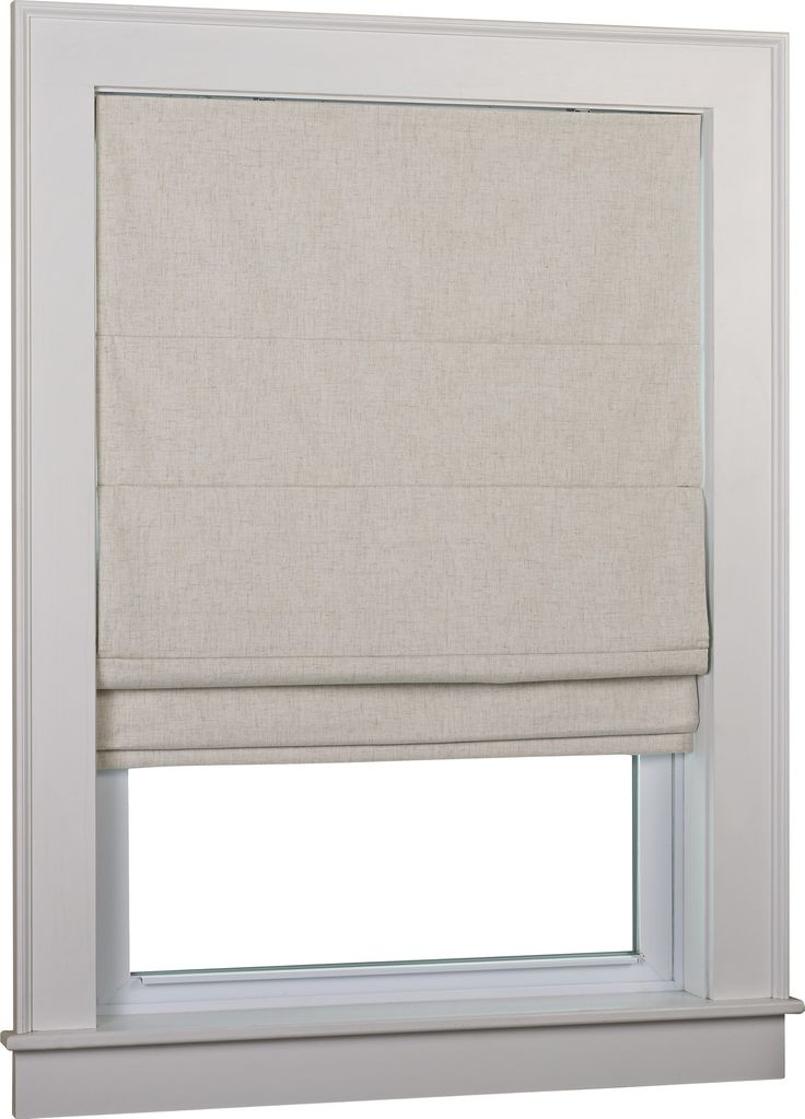 Huntington Linen Cordless Thermal Backed Roman Shade w/ Blackout Fabric