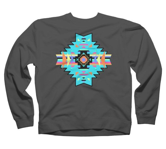 Aztec Pattern Men's Graphic Crew Sweatshirt - Design By Humans