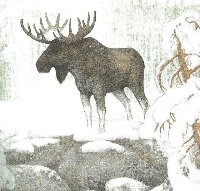 Kalevala-kuvitusta by Pirkko-Liisa Surojegin