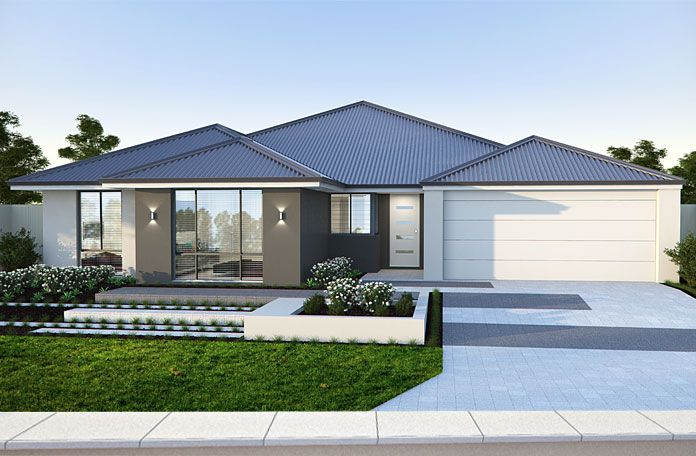 The Astute 17m frontage home design by Smart Homes for Living.
