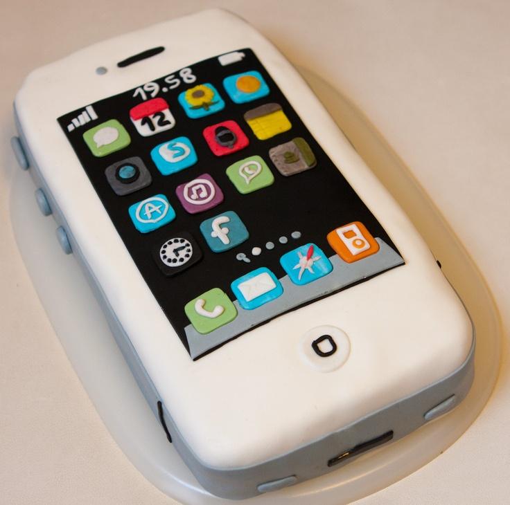 torta iphone cakes Pinterest iPhone