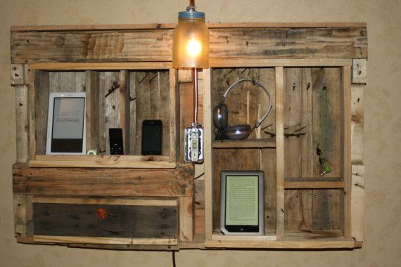 Docking Station iphone ipad nook rustic wallhanging by RustedCreek, $245.00