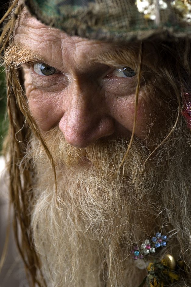 """Grandpa Woodstock """"Grandpa Woodstock"""" gave me permission to take his portrait shortly after he performed a wedding ceremony at the Rainbow Family Gathering near Fallsville, AR in 2007."""