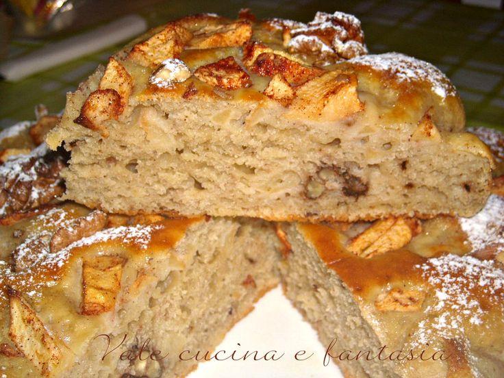 torta di mele con noci ricotta e cannella