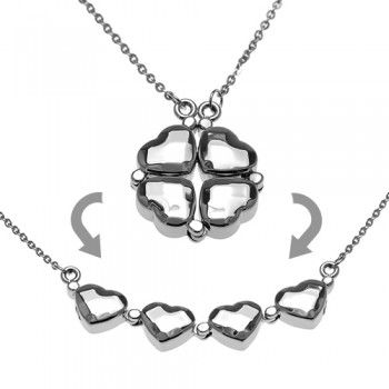 Check out this 2 in 1 Heart Shamrock Pendant in just 25.60$.Heart Necklaces, Shamrock Pendants, Movable Link, Heart Shamrock