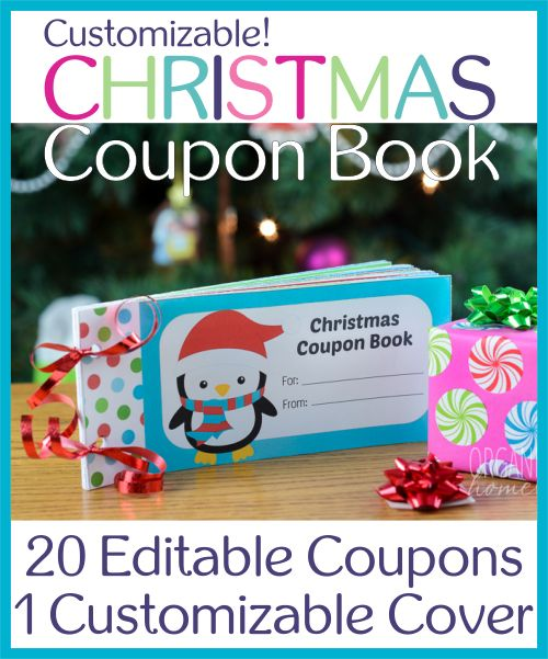 Fully Editable Christmas Coupon Book