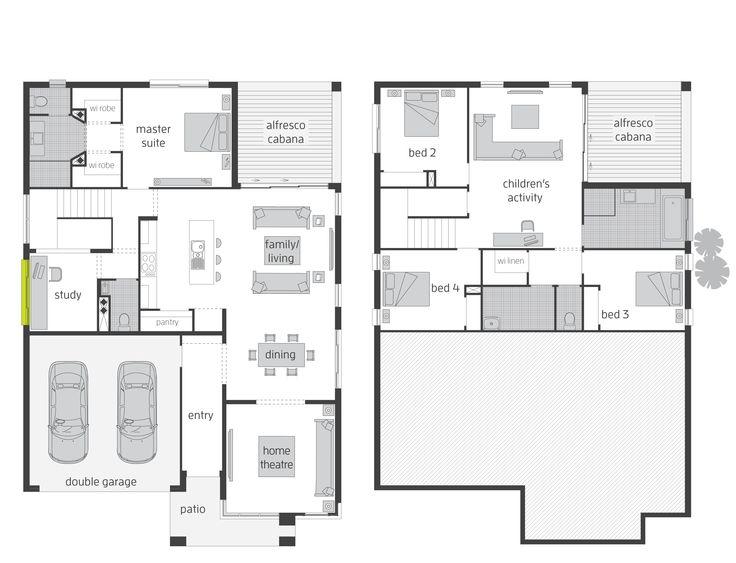 The Parklands Split Level Floor Plan By Mcdonald Jones