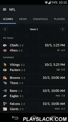 Yahoo Sports  Android App - playslack.com ,  The Yahoo Sports app delivers the best in sports with instant access to the latest scores, news, stats and more. Easy to personalize with your favorite teams and leagues, the Yahoo Sports app delivers high-quality, accurate info faster than ever. So you can get the info you need, the moment you need it, from any device.Favorite features· Event alerts - never miss a game start or scoring play· The latest from MLB, NBA, NHL, NFL, MLS, NCAAB, NCAAF…