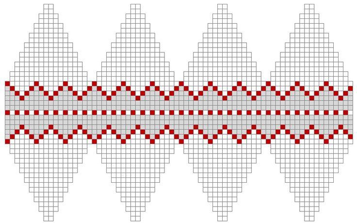 Color chart for knit Christmas ball
