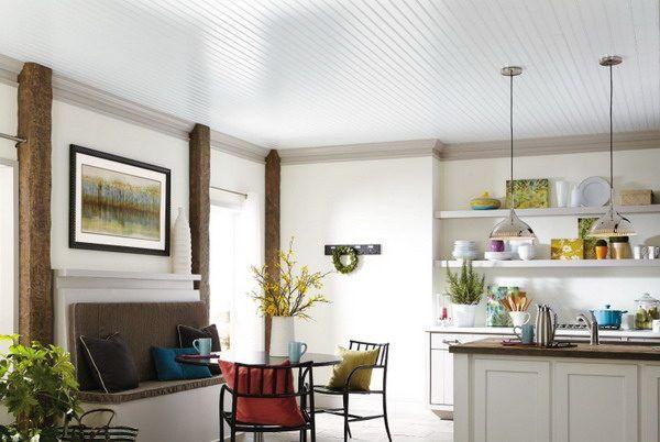 Deckenplatten Malen Tipps Und Ideen Fur Die Wahl Der Richtigen Farbe Deckenpaneele Kuchendecken Und Deckenpaneele Streichen