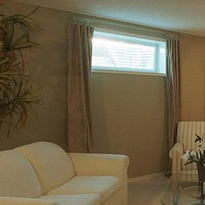 Amazing Basement Window Curtains   Google Search Images