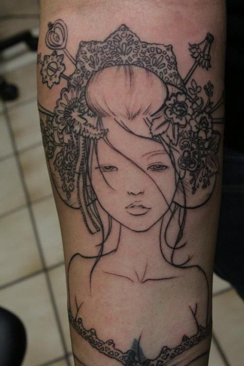 Artist- Rampy.Evolution Tattoo(5928s. pulaskiChicago, IL 60629)  Audrey Kawasaki piece