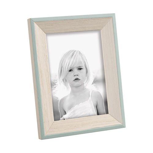PORTAFOTO A543 - portafoto 'colors' in legno con bordi esterni tinti verde - wooden photo frame with green painted edges