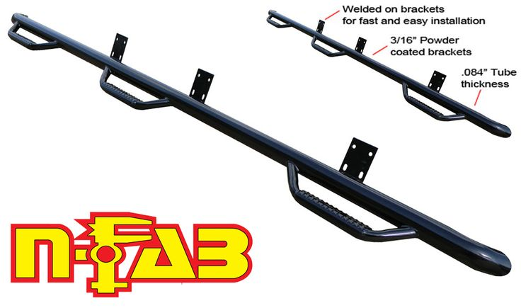 N-Fab Wheel To Wheel 6-Step Nerf Step Bars Toyota Tundra CrewMax 5.5 ft Bed 2007-2015