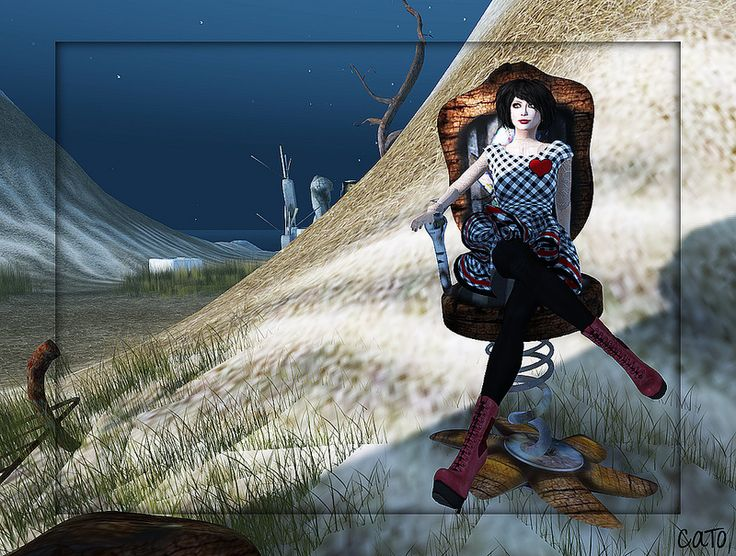 "Check out the Second Life Pic of the Day, ""Imogen and the Pigeons 