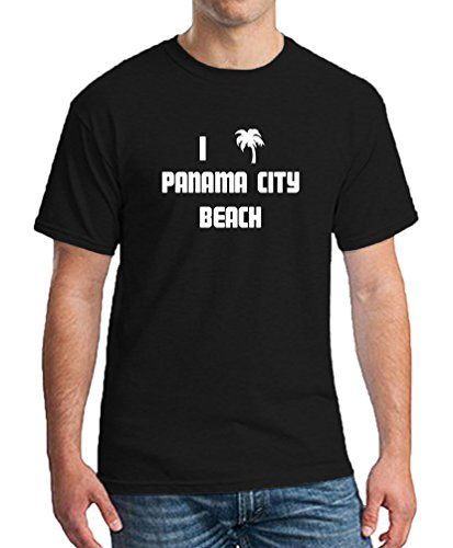 I PALM TREE PANAMA CITY BEACH Florida Black T-Shirt Mens Womens Clothes X Large