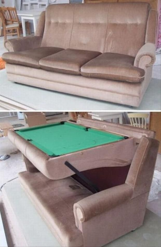 The Sofa/pool Table.
