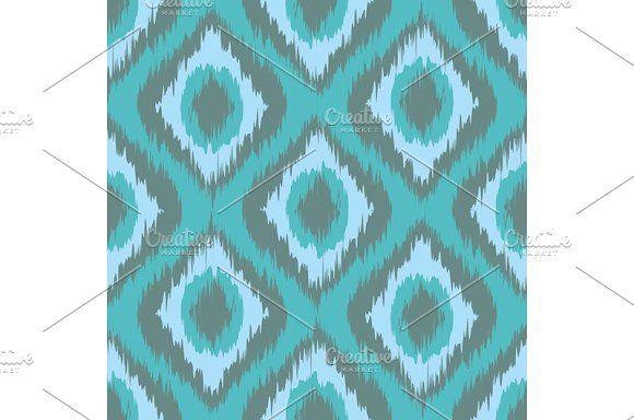 seamless pattern Tribal Art Ikat  by Rommeo79 on @creativemarket