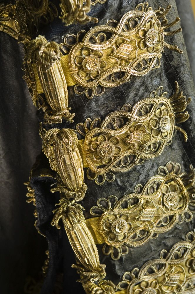 Black silk damask robe used by Disraeli as Chancellor of the Exchequer in the Bartolozzi Room at Hughenden Manor, Buckinghamshire, home of prime minister Benjamin Disraeli between 1848 and 1881. Disraeli was Chancellor in 1852, between 1858-9 and again in 1866-68. The robe was believed to have been made for William Pitt in the eighteenth century. ©National Trust Images/Andreas von Einsiedel.
