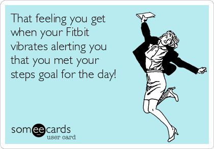My Fitbit just vibrated!!!! I not only met my goal of 9k today but surpassed it!!!! With over 13k!!!!!!! I feel amazing!!!!! 5 miles today!!!!!