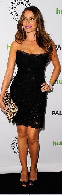 Sofia Vergara: Dress – Dolce & Gabbana Shoes – Christian Louboutin Jewelry – K Mart